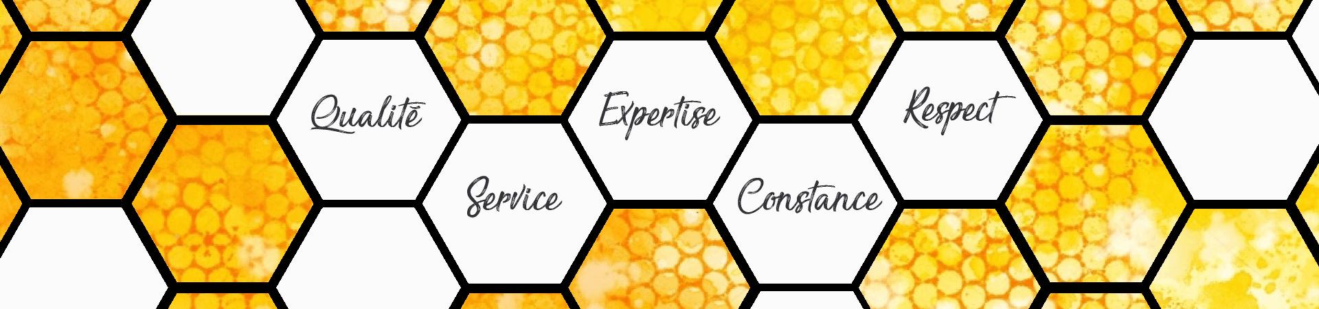 Qualité, service, expertise, constance, respect